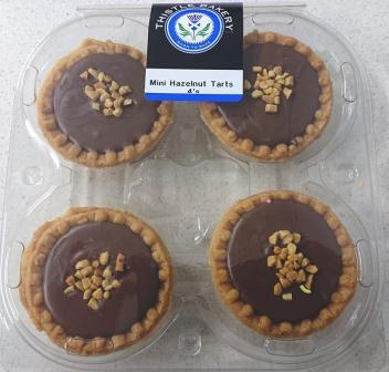 Mini Hazelnut Tarts 4's R20.00
