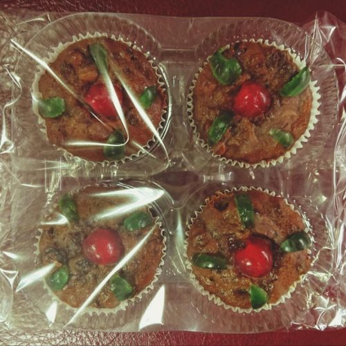 Xmas Fruit Cupcakes 4's Cherries Only R34-50