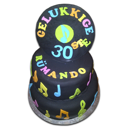 Record Music Birthday Cake